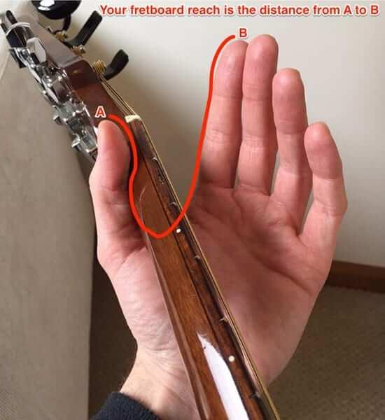 Touche (fretboard) de la guitare